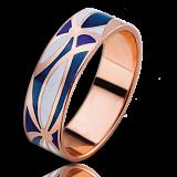 Золотое кольцо Небо любви с эмалью