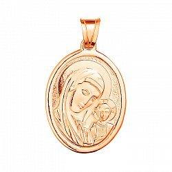 Золотая ладанка Богородица с Младенцем 000015131