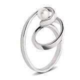 Серебряное кольцо с жемчугом Виток спирали
