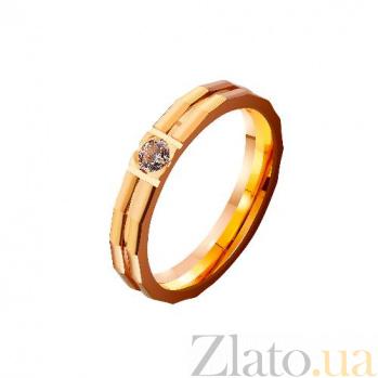 Золотое обручальное кольцо Нуждаюсь в тебе с фианитом TRF--4121176