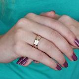 Обручальное кольцо из красного золота Нежность