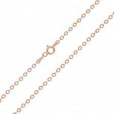Серебряная цепь Эксетер с позолотой, 2,5 мм