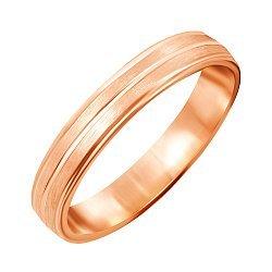 Серебряное обручальное кольцо с позолотой 000045412