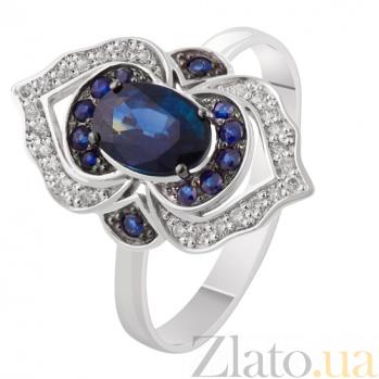 Золотое кольцо с сапфирами и бриллиантами Галактика KBL--К1886/бел/сапф