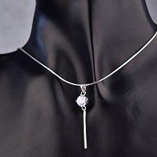 Серебряный кулон Инга с кристаллами циркония