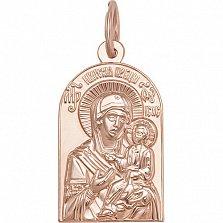 Золотая ладанка Богородица Иверская