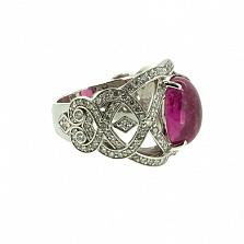 Золотое кольцо с бриллиантами и турмалином Faina