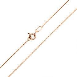 Цепочка из красного золота в плетении снейк, 1мм 000117329