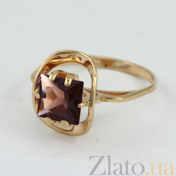Кольцо из красного золота с раухтопазом Заир VLN--112-813-2