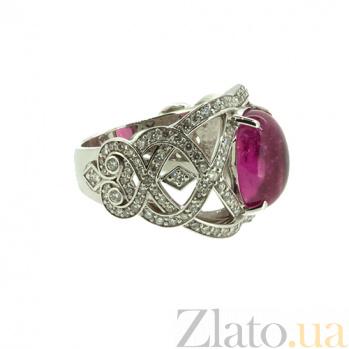 Золотое кольцо с бриллиантами и турмалином Faina ZMX--RDTur-00215w