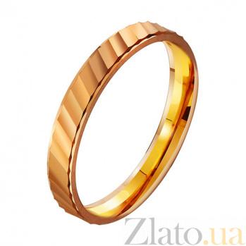 Золотое обручальное кольцо Океан любви TRF--411761