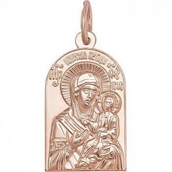 Золотая ладанка Богородица Иверская 000046149