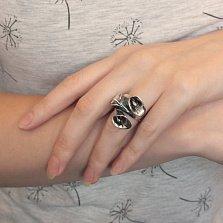 Серебряное кольцо Каллы с чернением