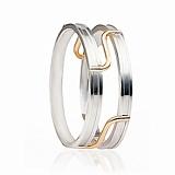 Золотое обручальное кольцо Модерн