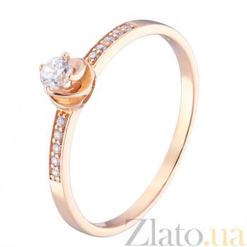 Кольцо в красном золоте Рада с фианитами 000023154