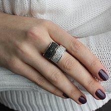 Кольцо из серебра Фантазия с кристаллами Swarovski