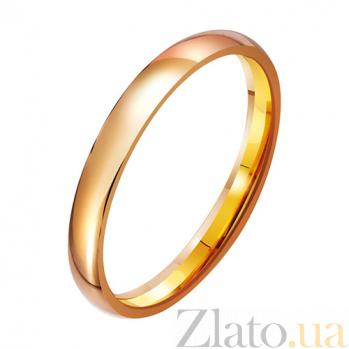 Золотое обручальное кольцо Навеки вдвоем TRF--411821