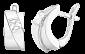 Серебряные серьги с фианитами Имидж SLX--С2Ф/001