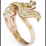 Кольцо Iris из желтого золота с желтыми бриллиантами