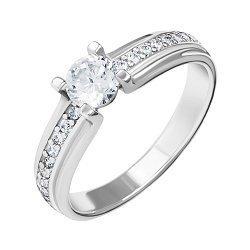 Серебряное кольцо с белыми фианитами 000088438