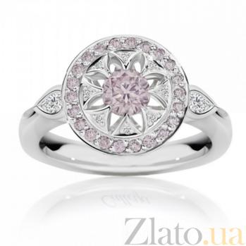 Кольцо Argile из белого золота с бриллиантами и розовыми сапфирами R-cjAr-W-23s-2d