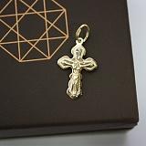 Золотой крестик в евро цвете Небесный хранитель