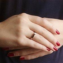 Золотое кольцо с фианитом Юлиана