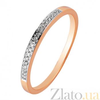 Обручальное кольцо в красном золоте Анна с бриллиантами SVA--1102064201/Бриллиант