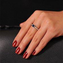 Золотое кольцо с сапфиром огранки Секрет