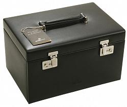 Шкатулка для  хранения украшений и часов в черном цвете Статус 000013763