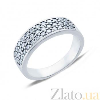 Кольцо серебряное с циркониями Ролана AQA--КВ1230.1