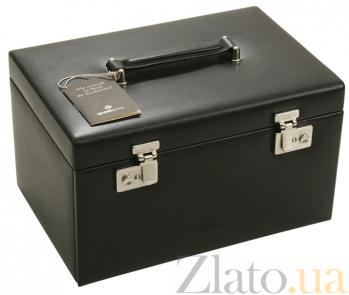 Шкатулка для  хранения украшений и часов в черном цвете Статус 3244/8