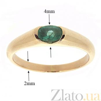 Золотое кольцо Зафира из красного золота с изумрудами ZMX--RE-15790_K