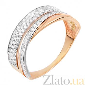 Золотое кольцо с фианитами Эвелин HUF--80679