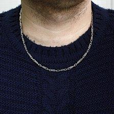 Серебряная цепь Гермес с чернением