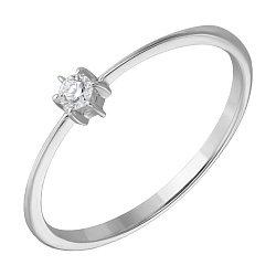 Кольцо из белого золота Гаянэ с бриллиантом