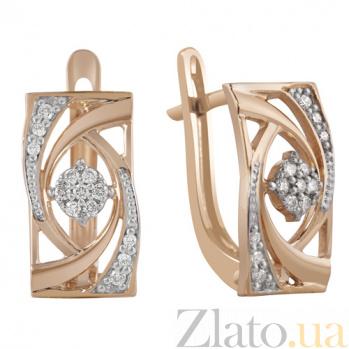 Золотые серьги Виконтесса с бриллиантами KBL--С2510/крас/брил