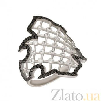 Кольцо из белого золота Хюррем с фианитами VLT--Т190