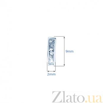 Серебряные серьги с фианитами Адайн 000027194