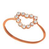 Золотое кольцо Романс с фианитами