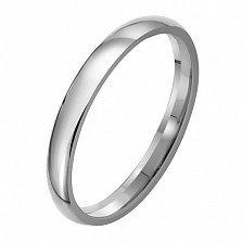 Обручальное кольцо из платины Классика, ширина 3 мм