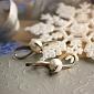 Серебряные серьги Ребит с жемчугом и золотыми вставками BGS--192с ж