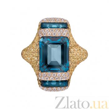 Золотое кольцо с сапфирами и бриллиантами Angelina 1К113-0193