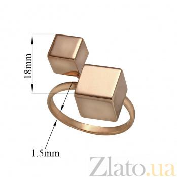 Кольцо в красном золоте Кубики 000079853