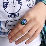 Серебряное кольцо с имитацией опала Пейзаж