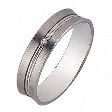 Золотое обручальное кольцо Романтичный подарок с бриллиантом