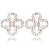 Серьги из розового золота с бриллиантами Долина грез: Праздник Жизни