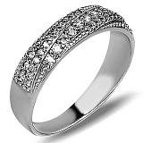 Серебряное кольцо Берта с фианитами