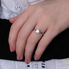 Серебряное кольцо Алисия с белым фианитом