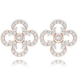 Серьги из розового золота с бриллиантами Долина грез: Праздник Жизни 000010849